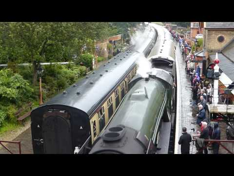 Flying Scotsman at Arley Station - Severn Valley Railway