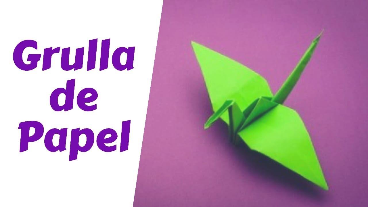 Como Hacer Una Grulla De Papel Origami Paso A Paso Fácil