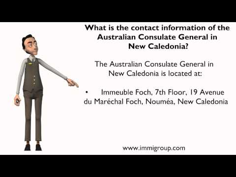 What is the contact information of the Australian Consulate General in New Caledonia?