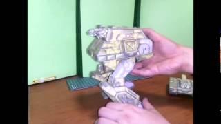 Modular Mech Bot Papercraft demo