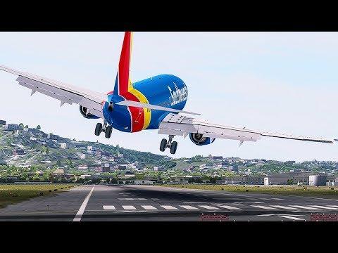 Dangerous Crosswind Landing   New Flight Simulator 2017 [Ultra Realism]