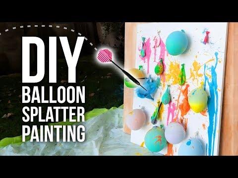 DIY Balloon Splatter Painting
