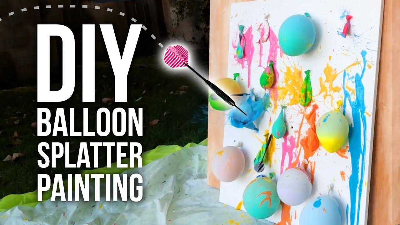 Diy Balloon Splatter Painting Hgtv Handmade Youtube