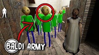 100 Baldi's Basics CLONES in Granny Horror Game... (Baldi's Basics in Granny Mobile Horror Game)