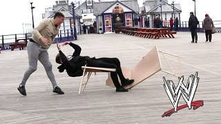 WWE MOVES IN PUBLIC   Tables Edition 😂