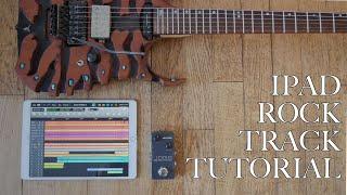 iPad Rock Track Tutorial | Auria, IK Multimedia Ampltube and Positive Grid X-Drummer