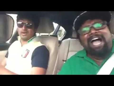 SivaKarthikeyan and Arunraja Kamaraj Enjoying #NeruppudaKabali