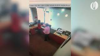 Comfort Inn manager caught on camera