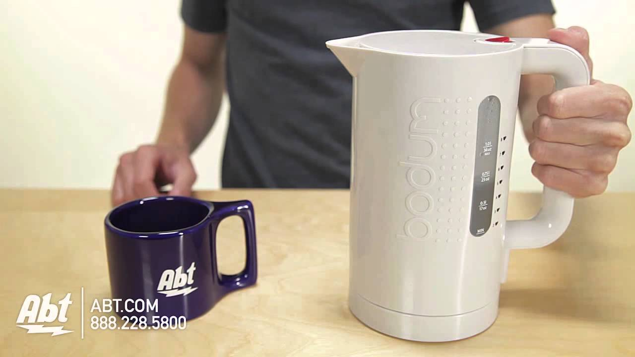 overview of the bodum bistro electric water kettle 11154 913us youtube. Black Bedroom Furniture Sets. Home Design Ideas