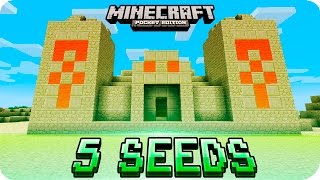 minecraft pe seeds top 5 unique seeds villages desert temple ice spikes 0 16 0 0 15 0 mcpe