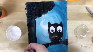 Elementary Art - Silhouette Painting Project