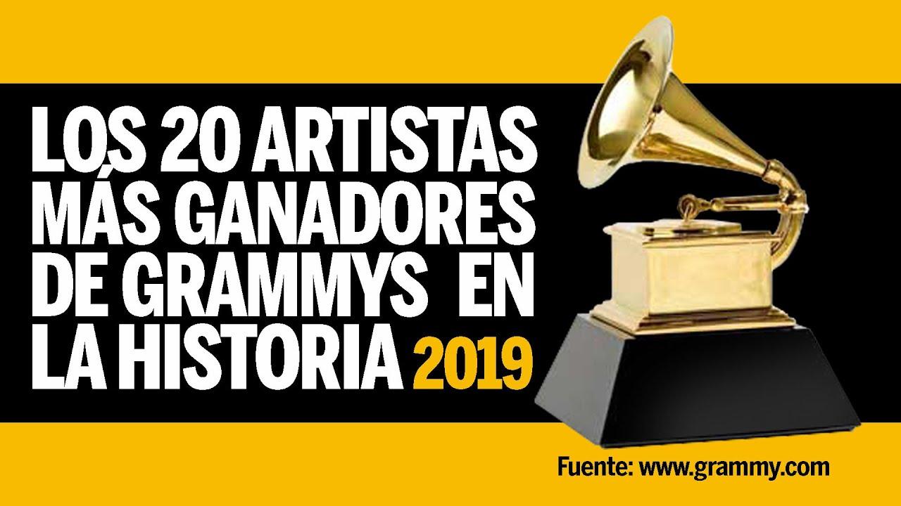 LOS 20 ARTISTAS MÁS GANADORES DE GRAMMYS EN LA HISTORIA - 2019