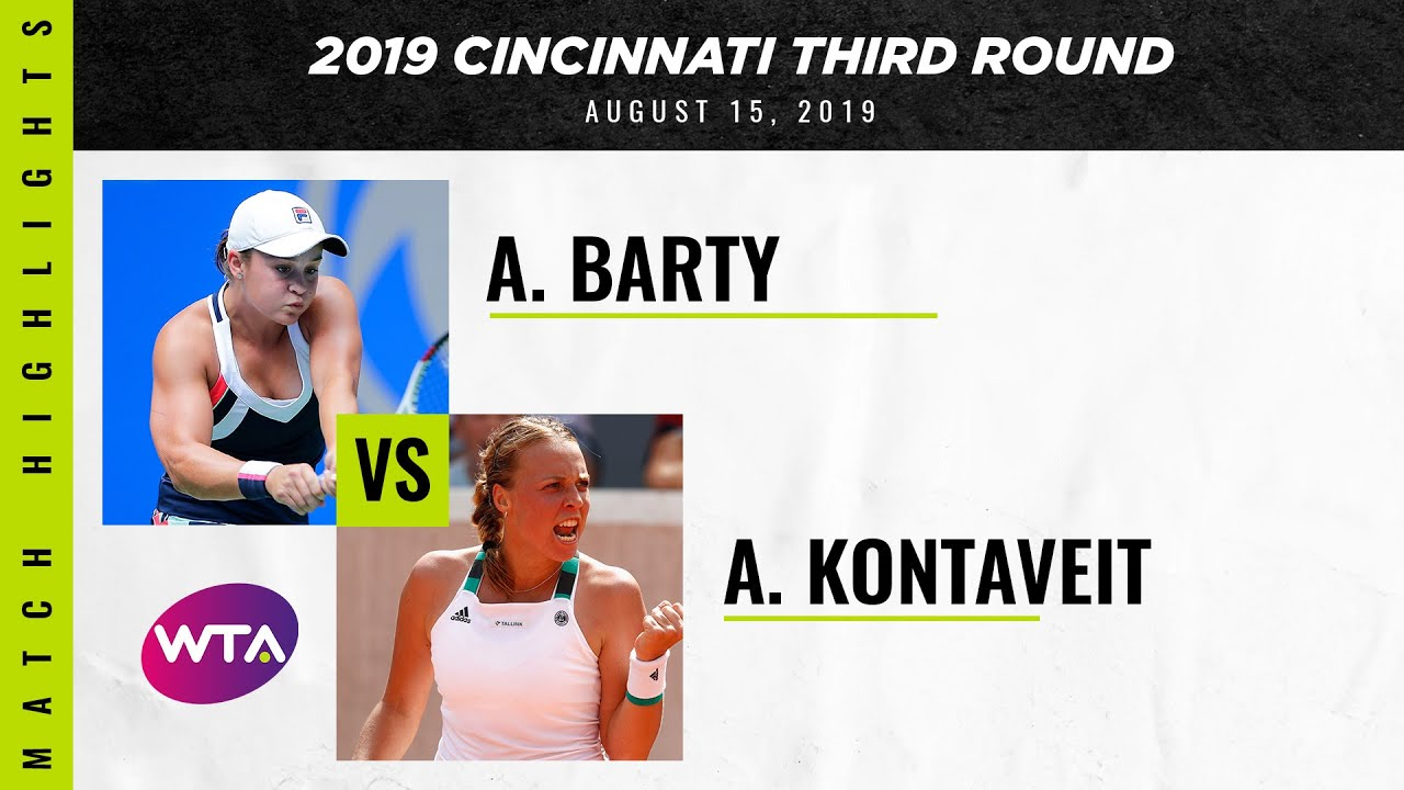 Ashleigh Barty vs. Anett Kontaveit | 2019 Western & Southern Open Third Round | WTA Highligh