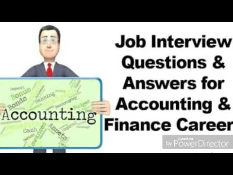 Part 6| Top 10 Accounting Interviews Questions U0026 Answers |