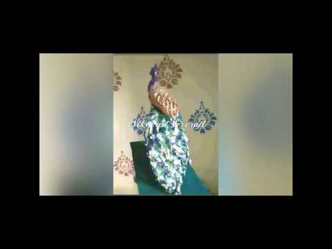 How to make a peacock by paper pulp(the art of paper pulp/mache)
