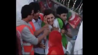Repeat youtube video Misbehave with girl at PTI Islamabad Jalsa
