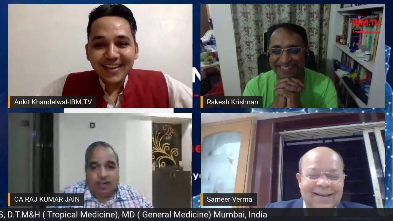 "Dr. Sameer Verma – MBBS, D.T. M&H, M.D. on IBM.TV "" Med Friday with Doctors"" on 8 May 2020"