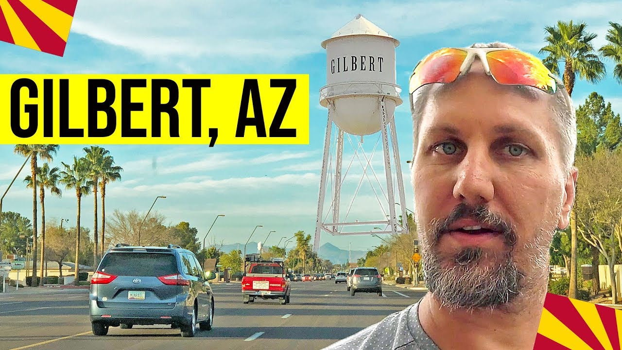 Gilbert Arizona Tour Downtown Gilbert Az Moving Living In Phoenix Arizona Suburbs Youtube