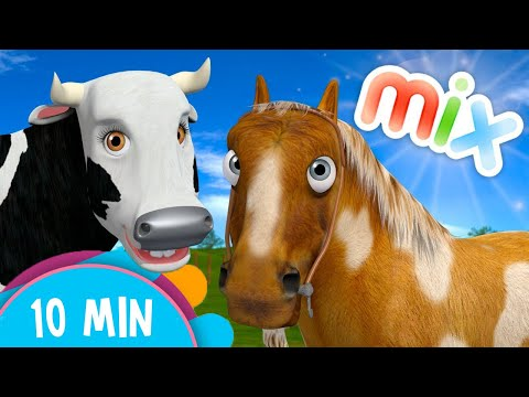 Cow's and Horses Songs Mix -  Kids Songs & Nursery Rhymes