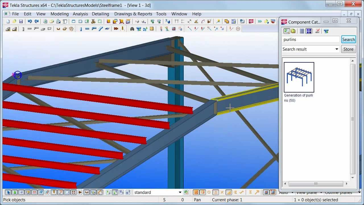 Generation Of Purlins Component Youtube