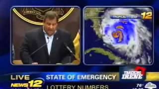 Governor Christie Discusses Potential Impact of Hurricane Irene and Declares State of Emergency