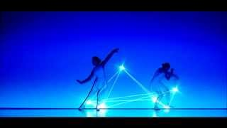 Лазерное шоу 2-х девушек