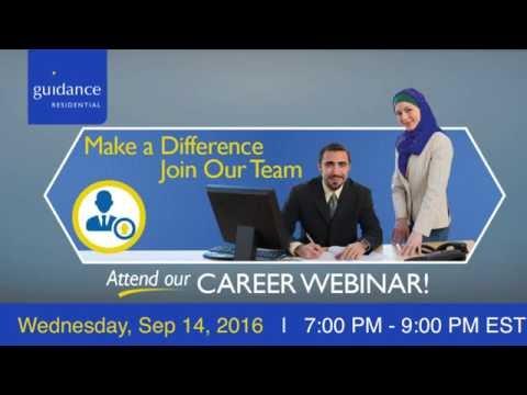 Join Guidance Residentials Career Webinar - Sept 14th