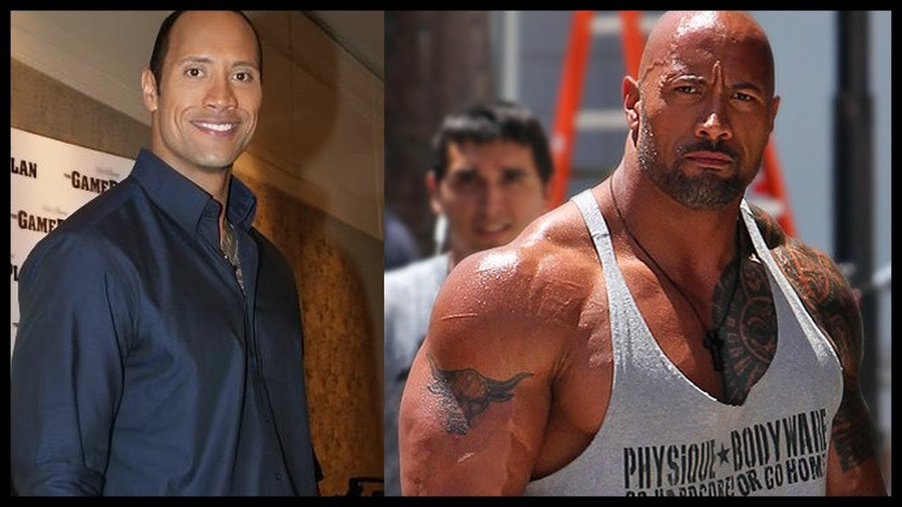 body transformation dwayne the rock johnson training and