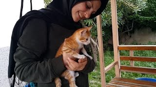 Bahçemizde Yavru Kedi Sevdik ve Arkadaşlarıma Slime Yaptık Bahçe Vlog Fenomen Tv