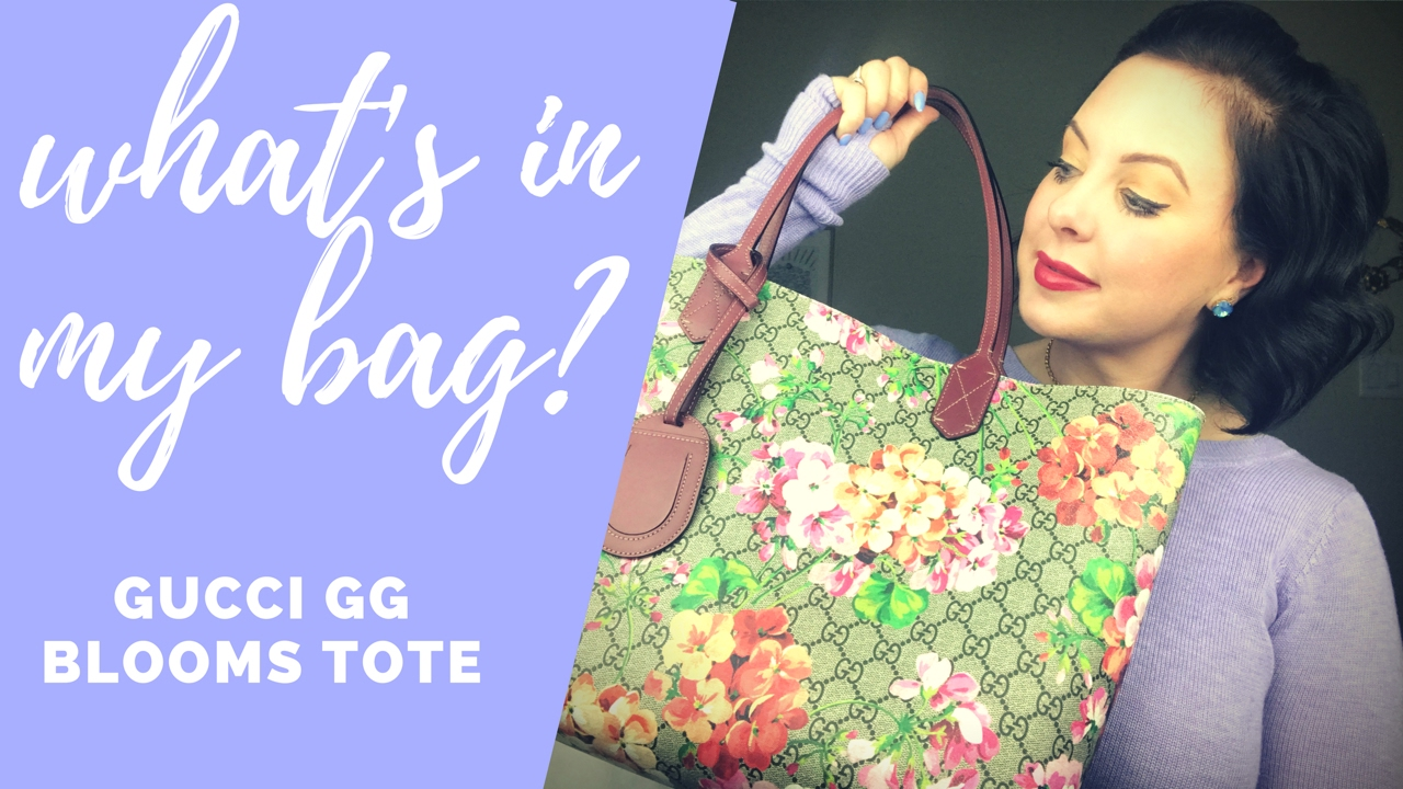 cfc1ee721 WHAT'S IN MY BAG?! GUCCI GG BLOOMS TOTE - FEBRUARY APPRECIATION ...