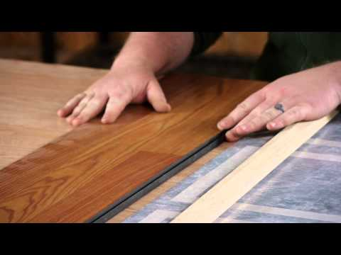 Reducer Strips for Laminate : Flooring Repairs