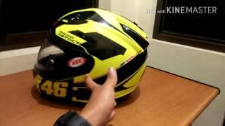 Cara!! Membuat spoiler Helm NHK GP 1000 ,menggunkan topi bekas helm KYT