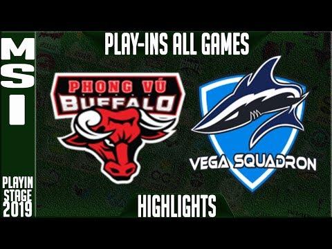 PVB vs VEG Highlights ALL GAMES | MSI 2019 Play-in Knockouts | Phong Vu Buffalo vs Vega Squadron