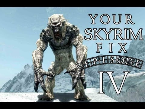 Your Skyrim Fix - Swimming with a Frost Troll