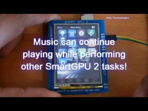 SmartGPU 2-Graphics, Audio, Touch and Full Datalogger - Arduino IPOD like GUI