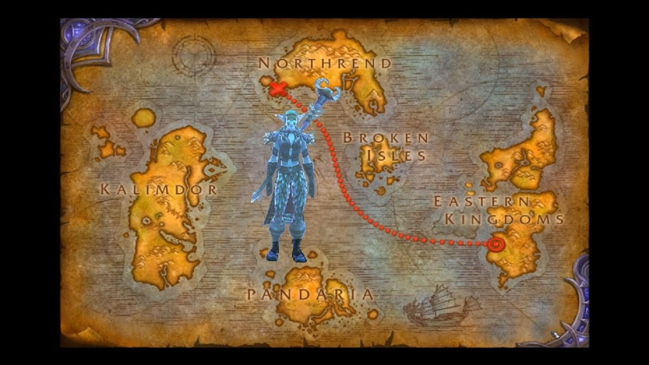 Journey to howling fjord new leveling zones night elf alliance.