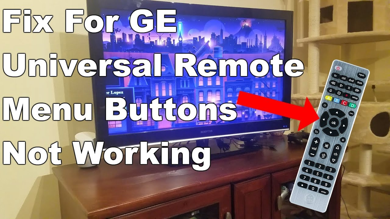 [Fixed] GE Universal Remote Menu Buttons Not Working