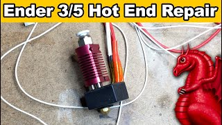 how to replace the thermistor and heater cartridge on a Creality hot end