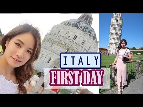 First Day In Italy   Florence   Leaning Tower Of Pisa   Kim Dao
