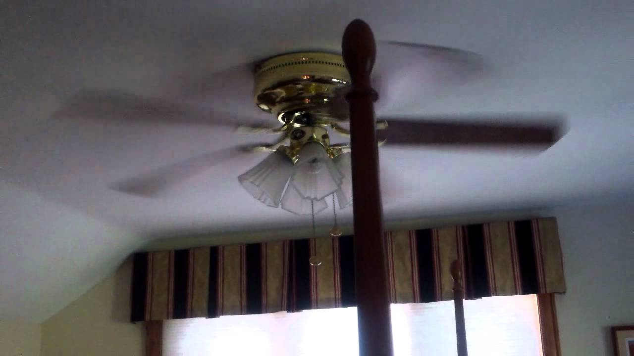 52 Quot Hampton Bay Carrige House Hugger Ceiling Fan 1 Youtube