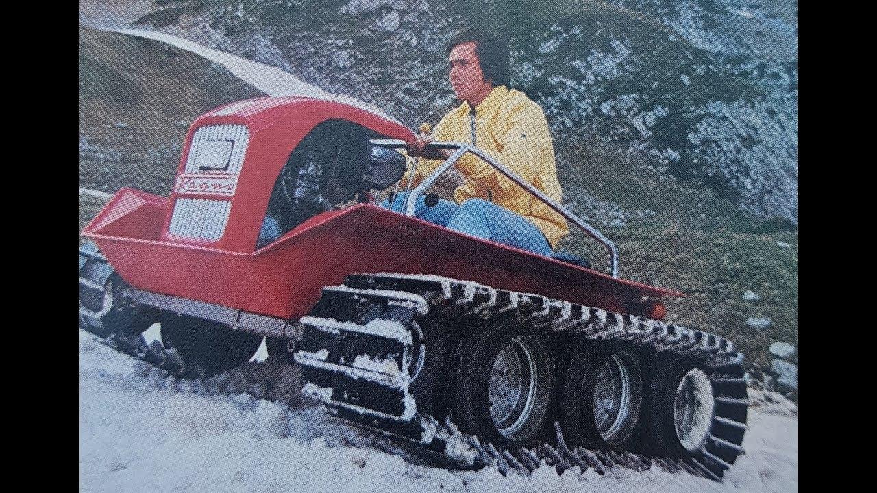 Ragno Ferrari 1974 Personal Tracked Vehicle Snowcat Ratrak