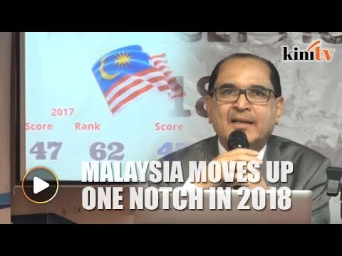 Malaysia moves up one notch to 61 in TI Corruption Perception Index