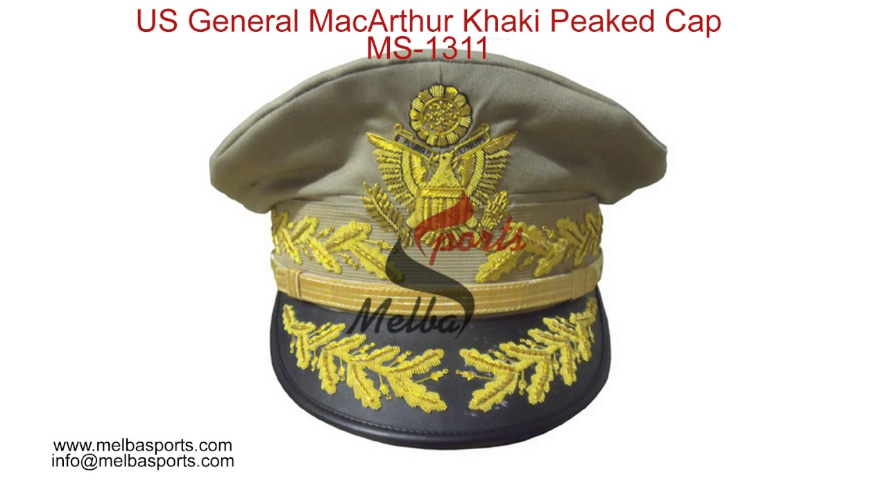 c57948d914d Headwears Collection-Military Peaked Cap - YouTube