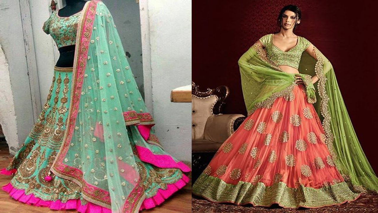 Latest simple and beautiful ghagra choli designs for girls