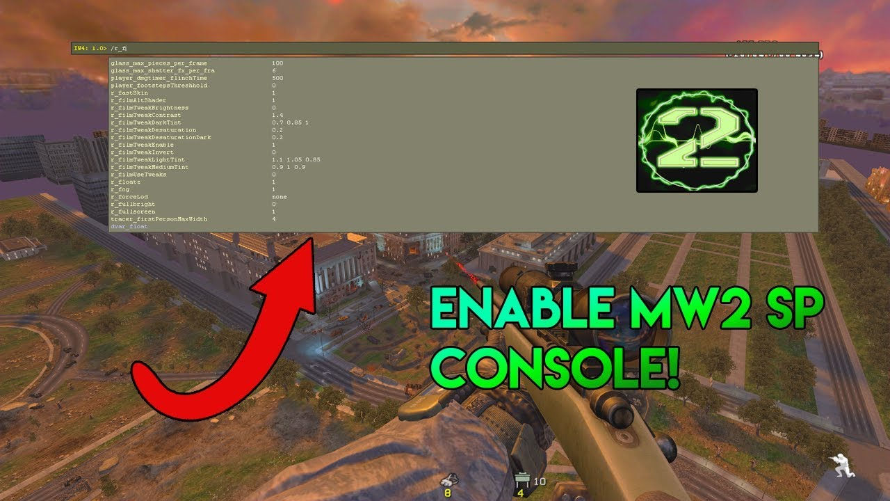How To Enable Mw2 Singleplayer Console | Modern Warfare 2 Tutorial | Mw2 PC