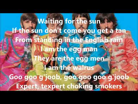 I am the walrus with lyrics(The Beatles)