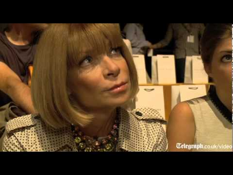 Anna Wintour talks to The Telegraph at New York Fashion Week