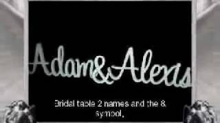 Funky Wooden Names & letters/ Bridal Table