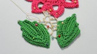 Как вязать сеточку в ирландском кружеве.Irish crochet.