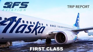 TRIP REPORT | Alaska Airlines - 737 800 - Nome (OME) to Anchorage (ANC) | First Class